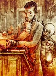 Mage in his study by Ecthelion-2