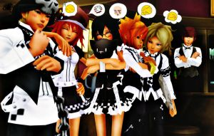 [ TWEWY ] Waiters And Waitress by tifany1988