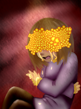 Flowerfell Frisk by cooky-the-cat