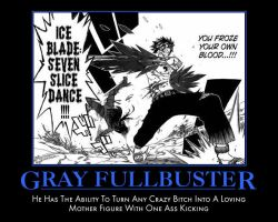 Fairy Tail: Gray Motivational Poster by 82and9make91