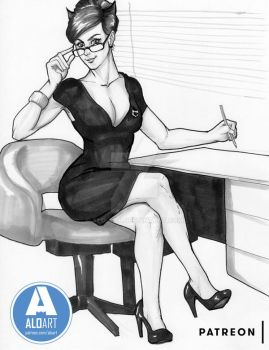 Catwoman Office by ALO-Art