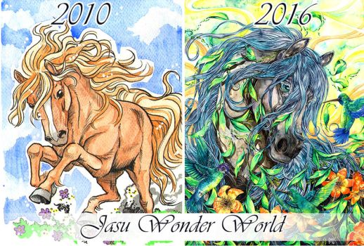 2010-2016 Art Comparison by Yasuli