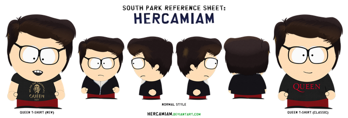South Park - Hercamiam reference sheet by hercamiam