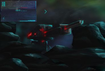Tambo: turret vs ghost by VonBlackHill
