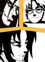 Orochimaru, Kabuto And Sasuke by NagatoSan
