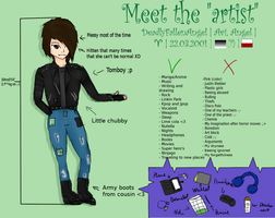 Meet The Artist| Meme by DeadlyFallenAngel