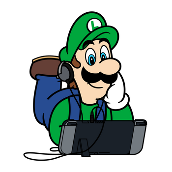 Super Mario x Nintendo Switch - Luigi by PepVerbsNouns