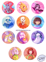 Undertale Buttons by Jellyfishbubblez