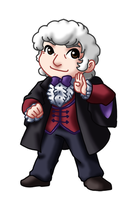 Chibi 3rd Doctor by TwinEnigma