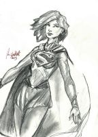 Supergirl sketch by mikewalters