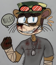 Goretober D17: Bloody Nose by Doodle-s