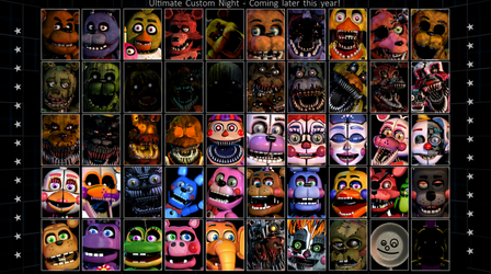 How the Ultimate Custom Night roster SHOULD be by Jpizza555