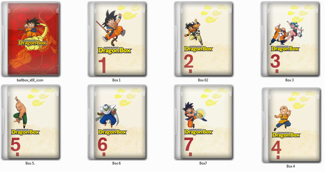 Dragon Ball Dragon Box ICO icons by SylentEcho88