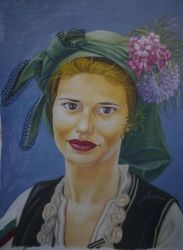 Bulgarian young lady with a traditional garb by c3ck1na