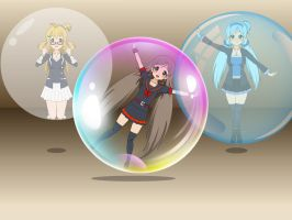 3 Sister Bubble and Balloon by sunnyDg
