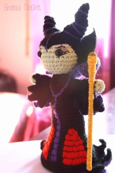 Maleficent crochet amigurumi doll by BramaCrochet