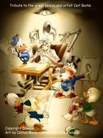 Disney Donald Duck and Barks by CarlosMota
