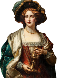 Woman holding a golden cup by ReneeToucher