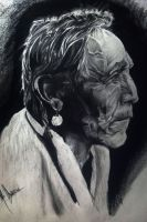 Native American, Graphite on paper by MarlonChavarria