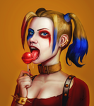 Harley Quinn and Her Dessert by buynsanjaa