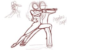 Argentine Tango Final Pose by LisaGunnIllustration