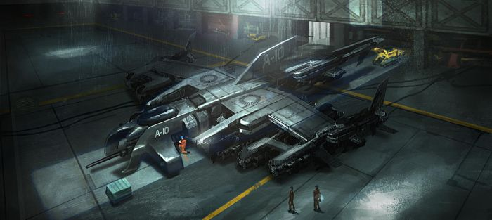 Sci Fi Ship Hangar2 by aaronflorento