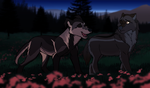 WoLF AT: Late Night Sisterly Bonding by DasChocolate