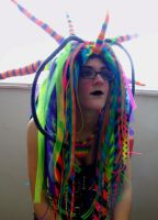 Rainbow cybergoth raver outfit - 3 by German-Blood