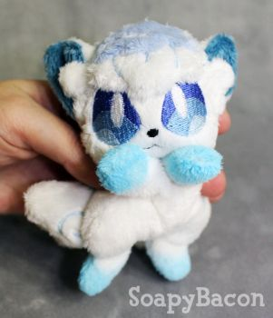 Alolan Vulpix Palm-Sized Plush Beanie by TheHarley