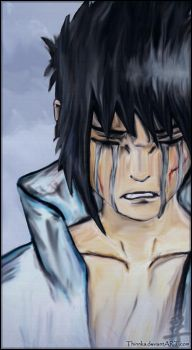 Crying Sasuke by Thinnka
