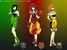 Hogwarts House Couture by faror1