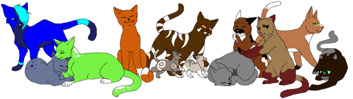 most of my cats by Amber2206