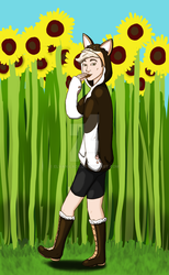 Commission: Among the Sunflowers