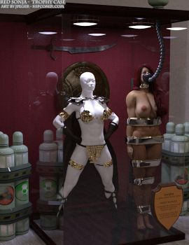 Red Sonja Trophy Case by thejpeger