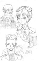 Characters sketchs for a new Manga by TheRafaLee