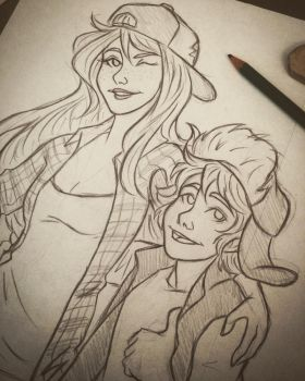Dipper and Wendy by 7Lisa