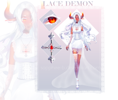 [CLOSED] Adoptable Auction White lace Demon by Sapphire-B