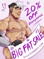 NEW YEAR STORENVY SALE! :D by zillabean