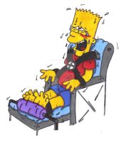 Bart Simpson Tickle Torture: Buffer Chair by KnightRayjack