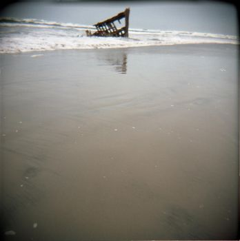 Astoria Beach Holga by burntheashes0