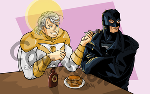 Apollo and Midnighter [Jude Deluca] by Empty-Brooke