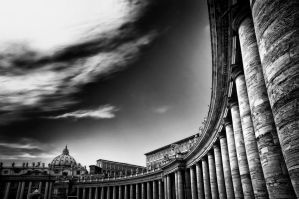 Sunset in Vatican city by marco52