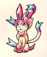Lil' Watercolour Sylveon by TheSagnip