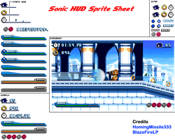 Sonic HUD Sprite Sheet (NEW) by HomingMissile333