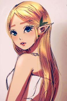 Princess Zelda by strawbreery