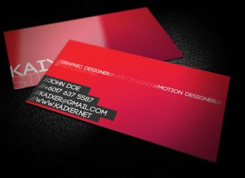 Minimal Style Business Card by KaixerGroup