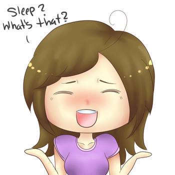 Sleep? What's that? by Hey-its-Jess