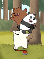 We Bare Bears by kuki4982