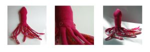 Gangly Pink Squid by treesofmachinery