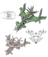 Pusher Prop Aircraft Designs by AriochIV